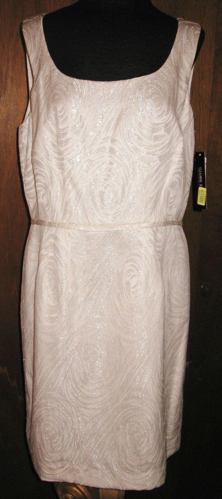 NWT GIANNI BiNI Ivory printed pencil dress size 12