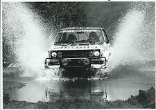 Fiat 131 Rally Abarth Alitalia Original Rally Photograph Through Deep Water