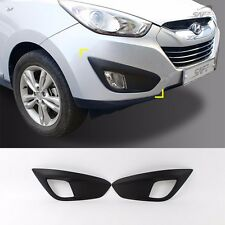 Black Matt Front Fog Lamp Cover Molding For Hyundai Tucson ix35 2011~2013