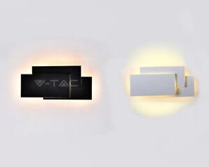 Applique wall lamp led 12w light natural vt 712 black white v tac ebay