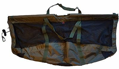 UK Angling Supplies Folding Carp Fishing Weigh Sling 123 x 60cm with Carry Pouch
