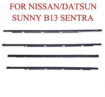 Window Door Glass Belt Seal Trim Weatherstrip for Nissan Sentra Sunny B13 Coupe