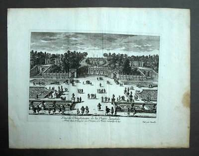 Art Amphitheater Rebe Der Pamphile In Rom Gravur Kunstblatt Originell Perelle 1675