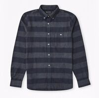 French Connection - Grey/navy Pop Flannel Shirt - Size L - W/ Tags Rrp £50