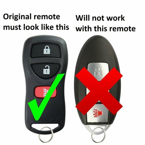 Replacement For 02 03 04 05 06 07 08 09 Nissan Xterra Key Fob Remote Control
