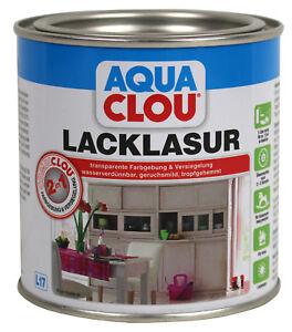 clou l17 combi clou lack lasur weiss 0 375l m bellack holzlack innenlasur ebay. Black Bedroom Furniture Sets. Home Design Ideas