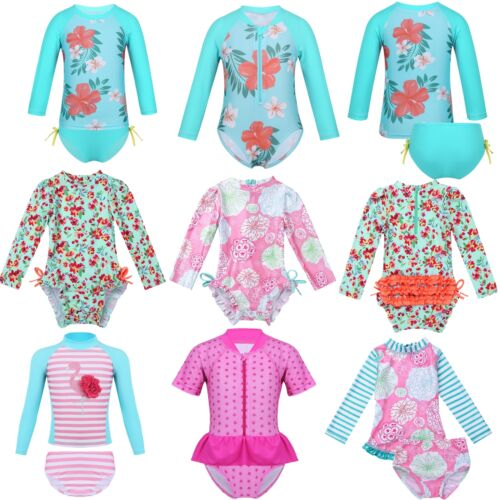 Rash Guard Swimwear Swimsuit Tankini Bathing Suit Beachwear Baby Girls UPF 50
