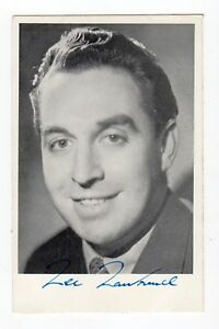 LEE LAWRENCE 1920-61 50's Pop singer. RARE Died aged 40yrs. Genuine Signed photo