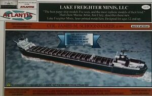 Col-James-M-Schoonmaker-Great-Lakes-Freighter-Paper-Model-Atlantis-Toy-amp-Hobby