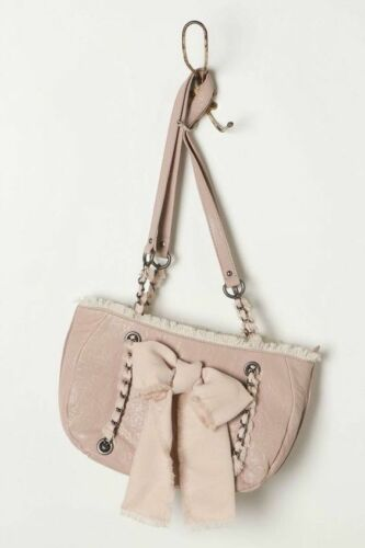cadena Purse de Anthropologie Bow Miss rosado Albright con Satchel Bolso cuero Nwt qB6S7w6