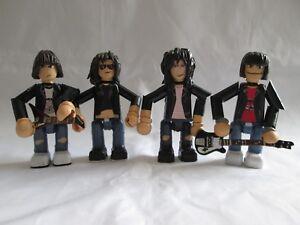 Ensemble de figurines Ramones de 3 pouces - 4 figurines articulées faites à la main
