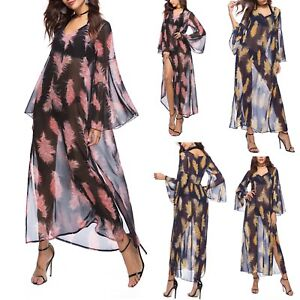 mujer playa caftán vestido P vestido de Kaftan de top de maxi vestido Cov0057 leggings Rd8nwAUq