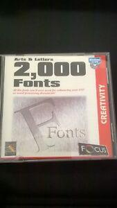 Arts Et Lettres 2000 Polices Windows 3.1x Ou Windows 95-afficher Le Titre D'origine Couleurs Harmonieuses