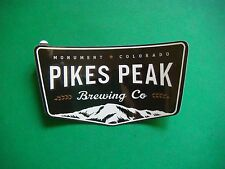 BEER Sticker: PIKES PEAK Brewing Company ~ Monument, Colorado Brewery Since 2011