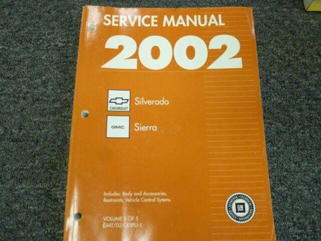 2002 Chevy Silverado 1500 2500 3500 Truck Electrical