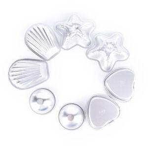 4set-Aluminum-Metal-silver-Bath-Bomb-Mold-Mould-For-DIY-Fizzles-Homemade-CraftFU