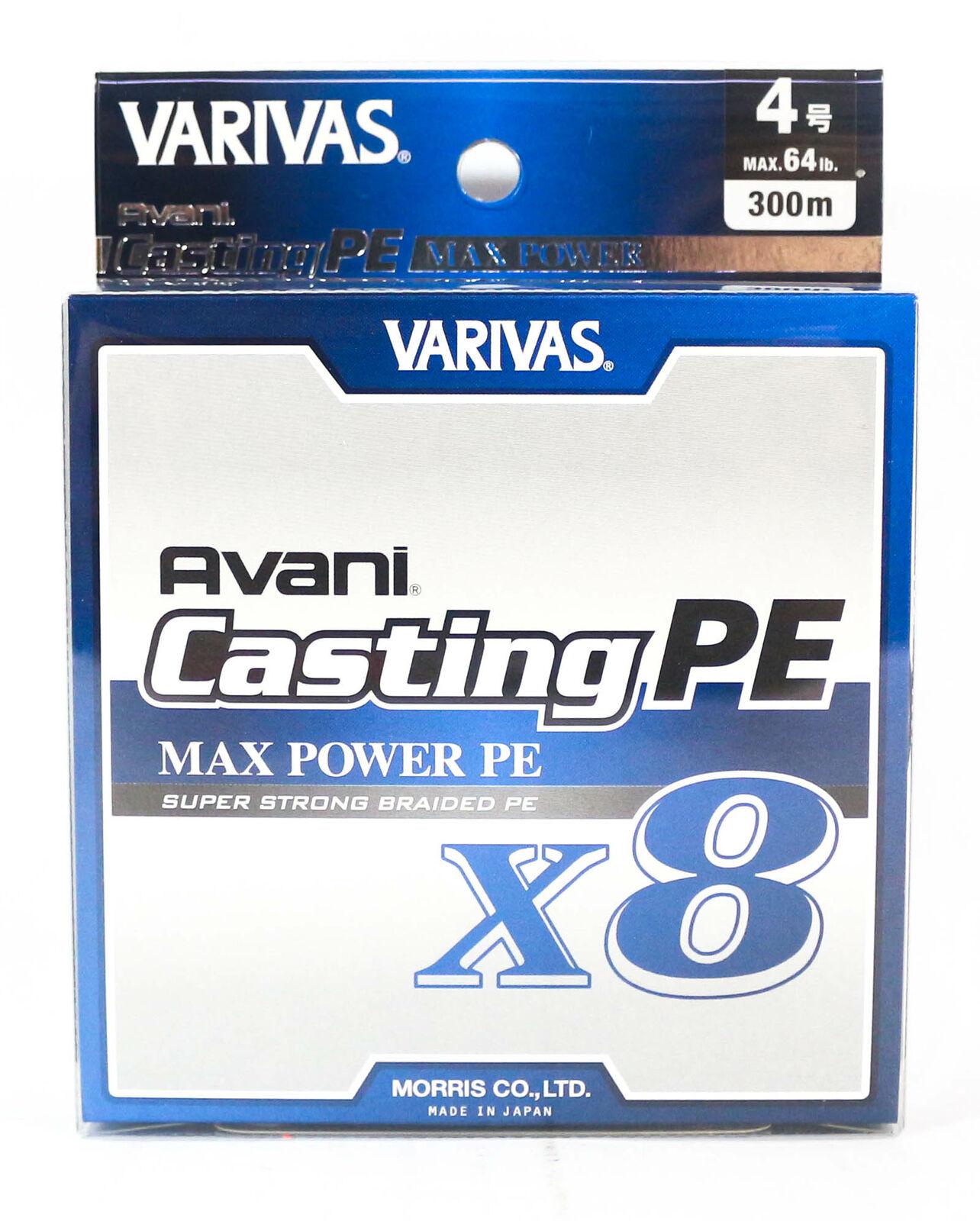 Varivas P.E Ligne nuovo Avani Max energia Casting X8 300m P.E 4 64lb 8593