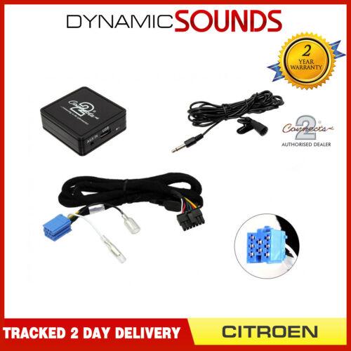 Ctactbt 001 Adaptador Inalámbrico Bluetooth streaming de manos libres de teléfono para Citroen