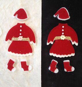 Mrs claus santa elf christmas girl tear bear scrapbook holiday