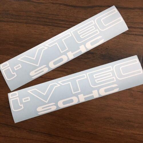 Honda Civic EX DX R18 CRV MANY SIZES! 2 Pair i-vtec SOHC Sticker Decal