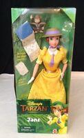 Vintage Disney's Tarzan Jane Doll W/ Baboon Book & Accessories Mattel 1999