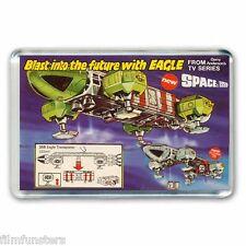 RETRO-  SPACE 1999 EAGLE TRANSPORTER  DINKY TOYS ADVERT - JUMBO FRIDGE MAGNET