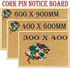 Cork Board 600 x 900 Notice Memo Board Message Pin Board Wooden Frame 60x90