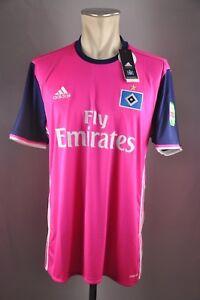 HSV-hamburgo-sv-camiseta-talla-L-XL-XXL-2016-18-nuevo-Pink-hamburgo-away-Jersey-Shirt