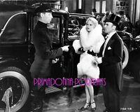 THELMA TODD 8X10 Lab Photo B&W 1930s FUR COAT & CAR SEXY LEGGY Early portrait