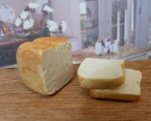 Dollhouse Miniature Handcrafted Loaf Sliced White Bread Doll House Miniatures