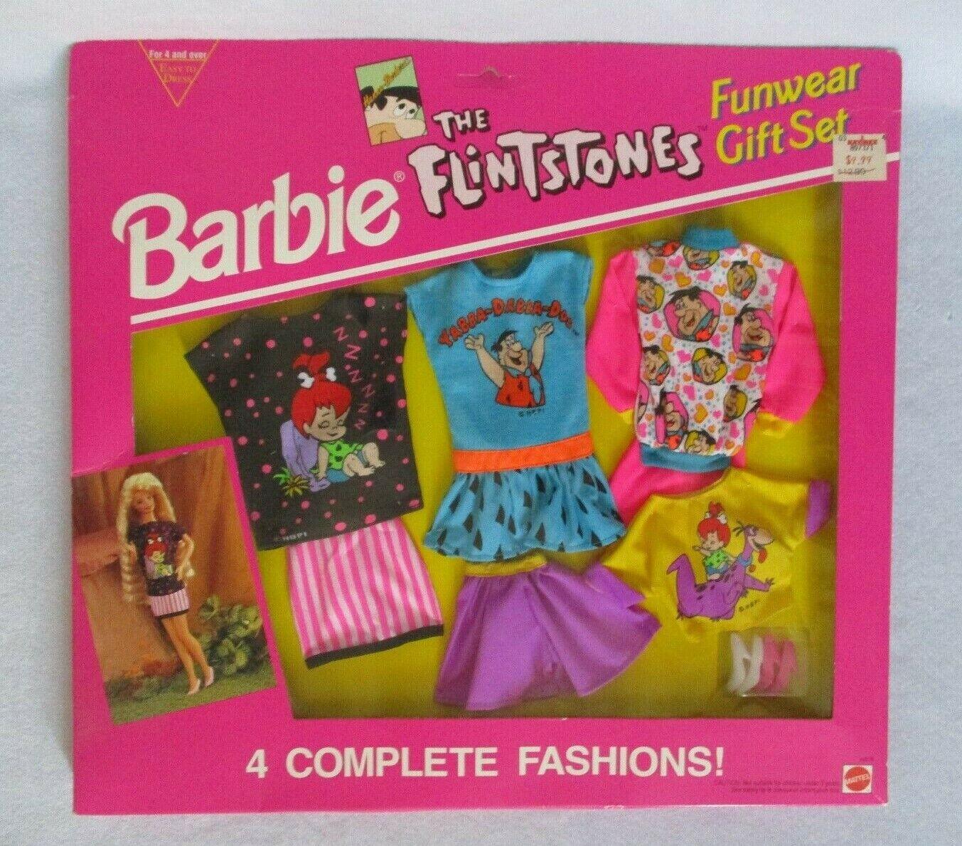 Barbie  el Flintsones  caracteres Moda 4 Conjunto de Regalo – en caja original – 1993
