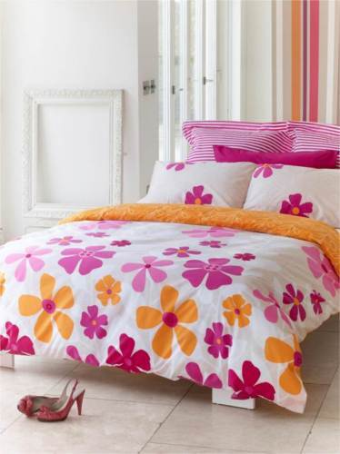 225TC Percale Tahiti Pink Queen Size Quilt Doona Cover Set