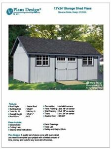 Details About How To Build Guide 12 X 24 Shed Plans Material List Included Design D1224g