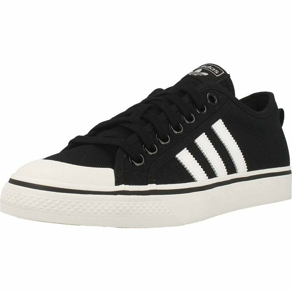 ADIDAS NIZZA MEN'S ATHLETIC SNEAKERS B37856 TRAINERS SHOES BLACK NEW B37856 SNEAKERS aded12