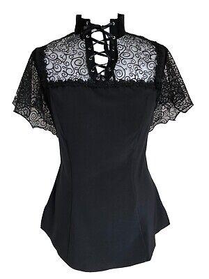 Spitze Schleppe Bluse Hemd Gothic Lolita Barock Viktorianisch Korsett PunkRave