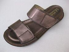 La Plume Womens Shoes NEW $85 Dena Metallic Leather Slide Sandal Italy 42 11