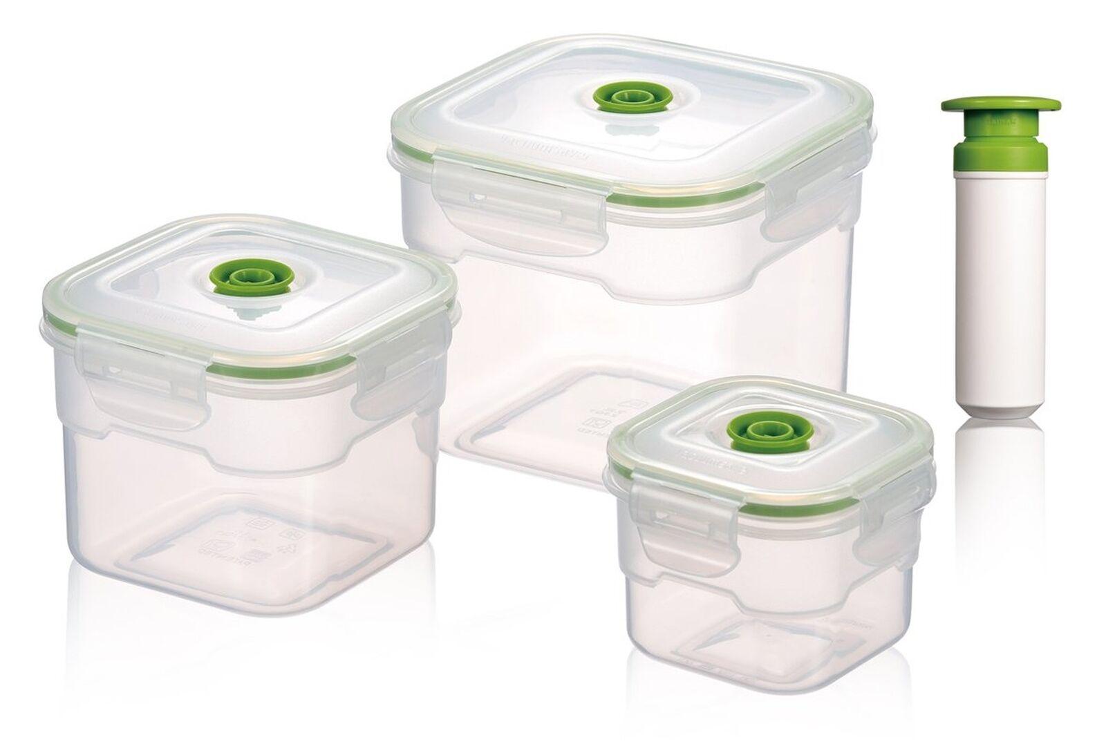 Vacuumsaver Flavia 3 piece food container set - with vacuum pump