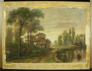 Dessin Original Au Pastel C 1900 Signature à Déterminer Cf école De Barbizon 7fe1oju6-10103237-700913262