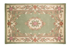 Quality Wool Oriental Traditional Flower Design Green Rug in 75 x 150 cm Carpet - <span itemprop=availableAtOrFrom>STEVENAGE, Hertfordshire, United Kingdom</span> - Returns accepted - STEVENAGE, Hertfordshire, United Kingdom