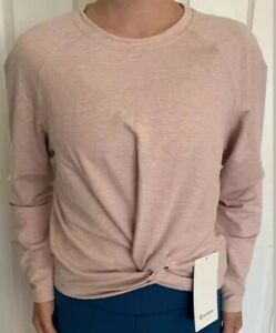 Lululemon-Size-6-Tuck-and-Gather-Pullover-Coral-Pink-HMFC-Shirt-Run-Swiftly-Yoga