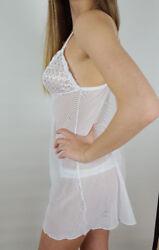 Unterkleid String weiß Dessous Nachthemd 38 42 44 48 52 56 Kleid Slip 2tlg neu