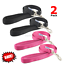 ANCOL-NYLON-DOG-LEAD-with-PADDED-HANDLE-Black-Blue-Red-and-Pink-TWIN-PACK thumbnail 1