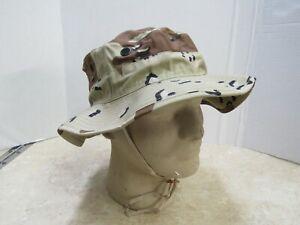575cdc4fdddf3 Genuine USGI 6 Color Chocolate Chip Boonie Hat Gulf War Desert Camo ...