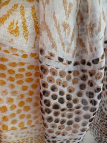 Tommy Hilfiger ladies scarf cream black dots mustard beige NEW womens