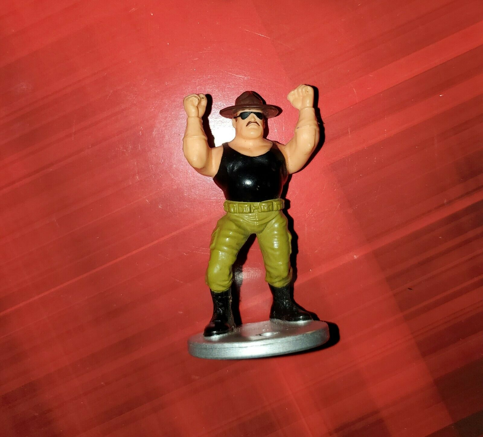 WWE WWF Sgt Slaughter Exclusive Hasbro Royal Rumble Mini Wrestling Figure
