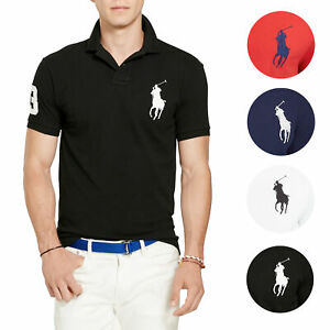 Polo-Ralph-Lauren-Men-039-s-Short-Sleeve-Big-Pony-Logo-Polo-Shirt