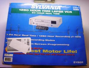 SYLVANIA-SY96R-1280-HR-TIME-LAPSE-24-HR-REAL-TIME-VCR-FOR-A-MONITORING-SYSTEM