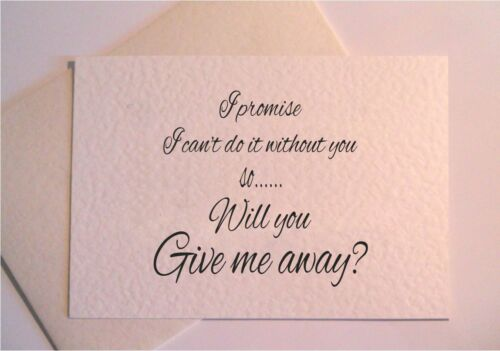 WILL YOU BE MY Bridesmaid can  personalised Fun range Flower Girl Card