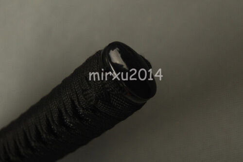 Silk Ito Negro Sintético Negro real rayskin Tsuka De Katana japonesa Samurai