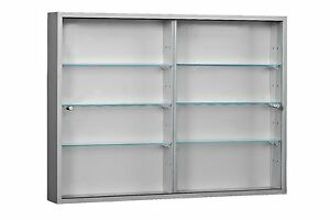 Retail Shop Large 2 Door Wall Mounted Glass Display Cabinet Vape E ...